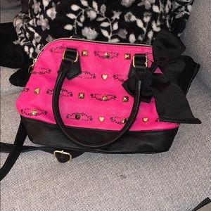 Hot pink and black Betsey Johnson purse